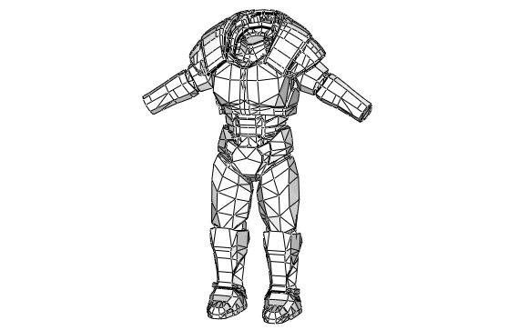 Fallout 2 - Life Size Classic Power Armor Papercraft Free Template Download - http://www.papercraftsquare.com/fallout-2-life-size-classic-power-armor-papercraft-free-template-download.html#Fallout, #LifeSize, #PowerArmor