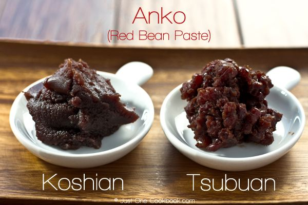 Nami, JustOneCookbook: Red Bean Paste (Tsubuan) Recipe. Anko, red bean paste, is used in many confectionery in Japan.  It is usually prepared by boiling and sometimes mashing azuki beans and then sweetening the paste with sugar.  The most common types of read bean paste include Tsubuan and Koshian.