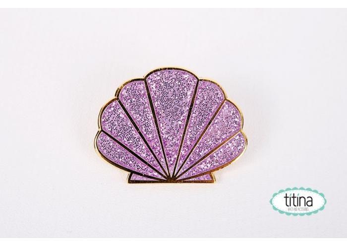 Titina accesorios: pin conchita marina la sirenita - Kichink!