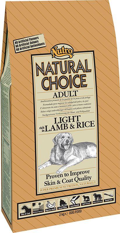 HONDENBROKKEN  Nutro Choise Adult light lam&rijst is geschikt voor volwassen honden met overgewicht of lage activiteit. Minder vet en minder calorieen om gewichtstoename te beheersen. Bevat L-carnitine om vet op natuurlijke wijze te helpen verbranden Een smakelijke Light voeding zonder overbodige vezels als vullers Lamsvlees om voedingsgevoeligheden te helpen beperken en om een slanke bespiering te verkrijgen Zeer goed verteerbare rijst voor uithoudingsvermogen en energieverschaffing Met…