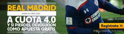 betfair Real Madrid gana Cruz Azul cuota 4 mundial clubes 16 diciembre