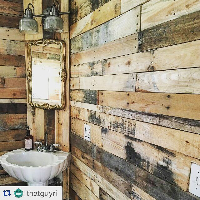 Repost thatguyri beautiful bathroom remodel for Pallet bathroom ideas