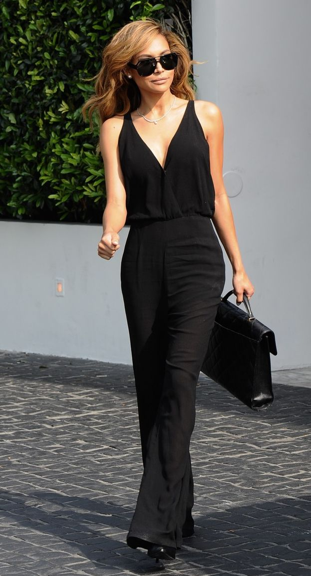 Naya Rivera style - Naya is ever so sexy in her black jumpsuit. #nayarivera #jumpsuit #celebritystyle