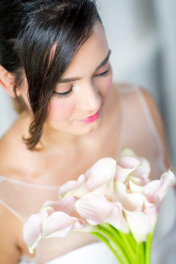 Rose Quartz Wedding Makeup | Captured by Pavel Photography on @polkadotbride via @aislesociety