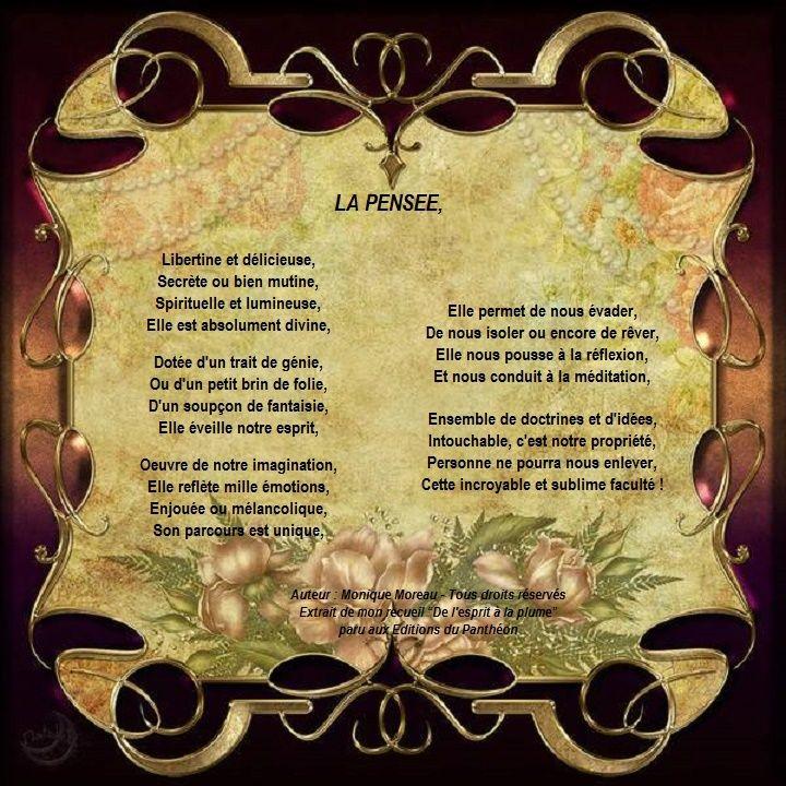 AU COEUR DE LA POESIE - Passionnée depuis toujours par l'écriture, la beauté et la richesse des mots, attachée au charme et à l'élégance de la Langue Française, je vous invite à découvrir ici un panel de mes créations, des poèmes, des citations personnelles, quelques acrostiches et mon autre passion, la photographie. La poésie et la photographie sont pour moi intimement liées. La première dévoile la vision de l'âme et la seconde l'âme de la vision !
