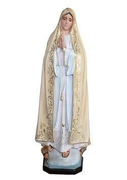 Madonna di Fatima  altezza cm. 120 in vetroresina dipinta con colori acrilici e finiture ad olio disponibile anche con occhi di vetro  http://www.ovunqueproteggimi.com/collezione-statue/madonne/fatima/