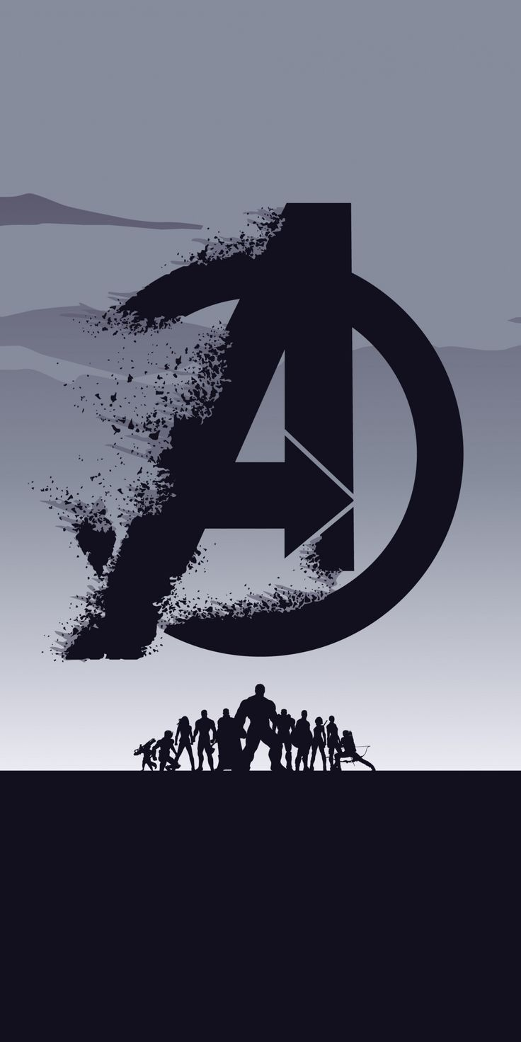 2019 Movie Avengers Endgame Minimal Silhouette Art 1080x2160