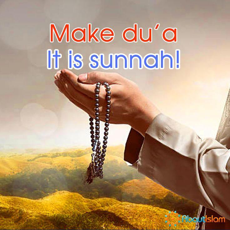 Make du'a it is Sunnah! #Sunnah #dua #Islam