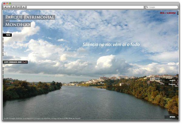 Parque Patrimonial Mondego_website by Dominika Gorecka, via Behance