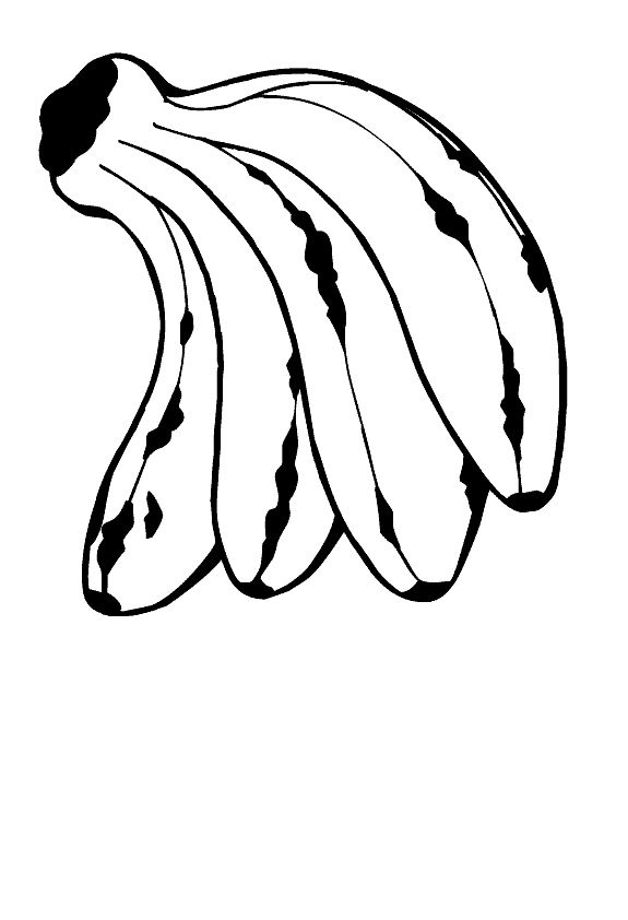 7 best banana coloring pages images on pinterest