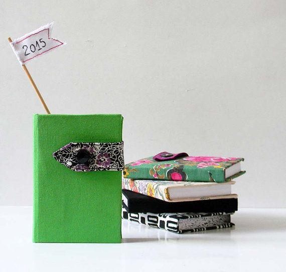 Diary 2015  Mini Planner  Green Pocket Agenda   by polykatoikia