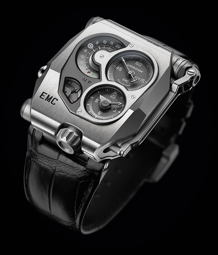 """In Urwerk's never-ending mission to produce some of the most interesting and genre-bending mechanical watches on the planet, we now present you with the EMC, or Electro Mechanical Control. We showed you the movement to the EMC here back at Basel, but now the watch has been unveiled, and it's a doozy. The EMC is """"the world's first precision mechanical watch in which the timing can be monitored and adjusted by the user, on the fly - essentially? It's interactive."""