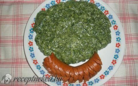 Spenót főzelék recept fotóval
