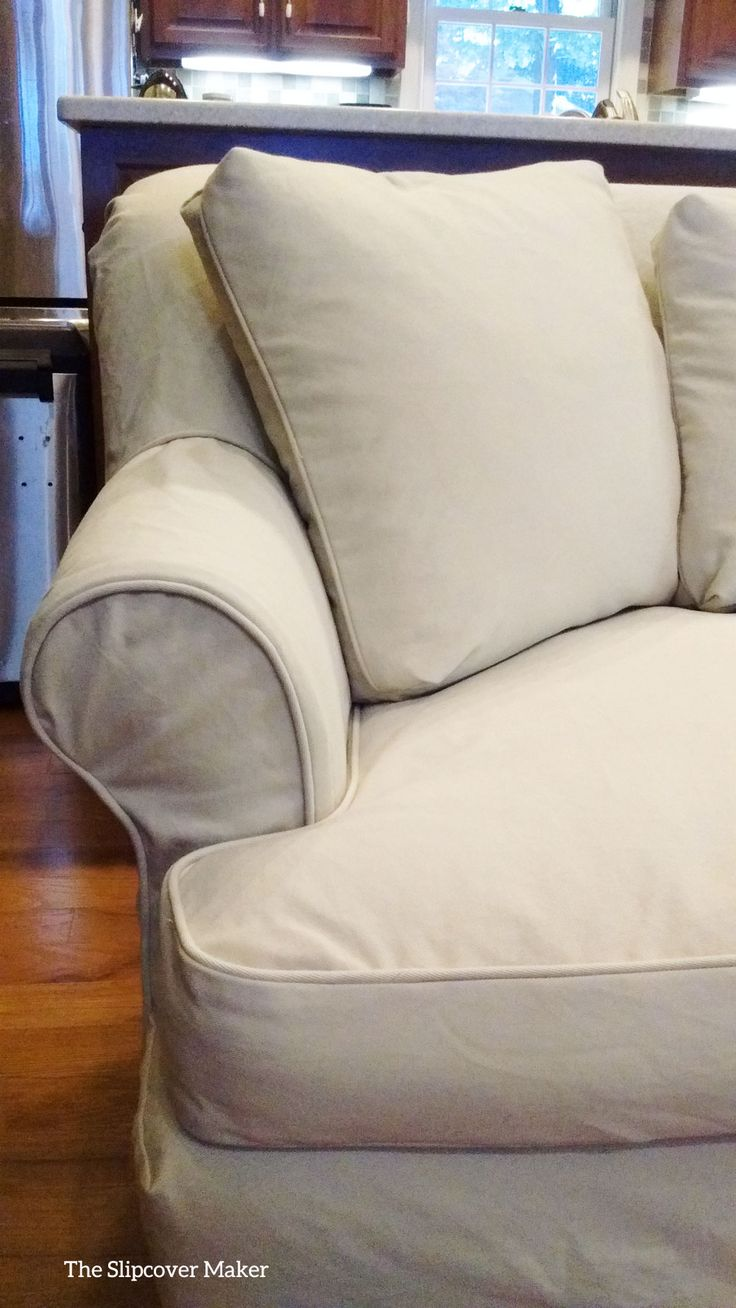 Slipcover fabric by the yard - From Big Duck Canvas Makes A Durable Washable And Very Pretty Slipcover