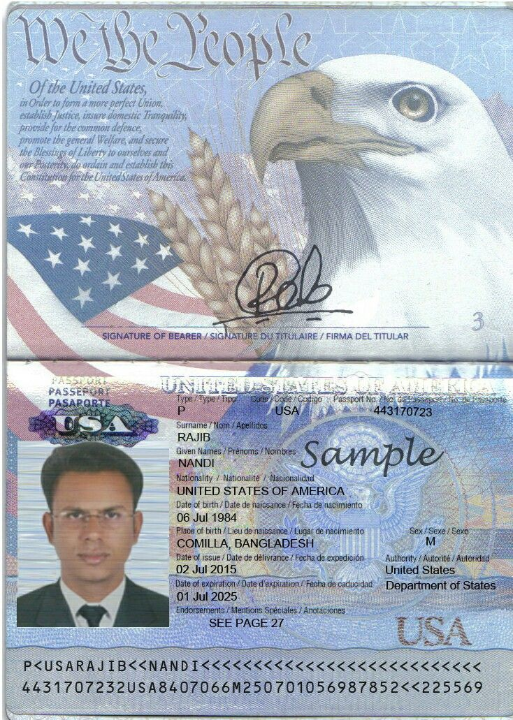 Usa Passport Template Passport Template Psd Templates Templates