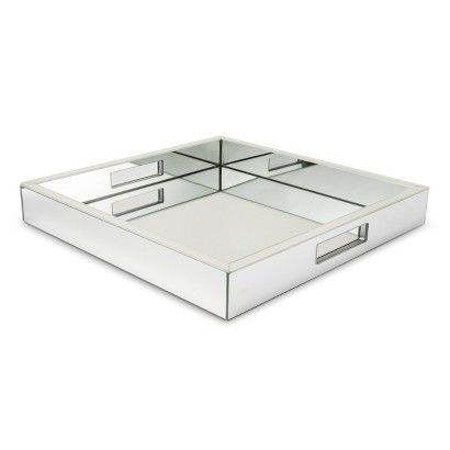 mirrored tray from Target (I have several of these and they look so nice in any room).