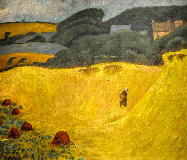 Paul Serusier - The Beach of Les Grands Sables at Le Pouldu, 1890 at Art Institute of Chicago IL | Flickr - Photo Sharing!