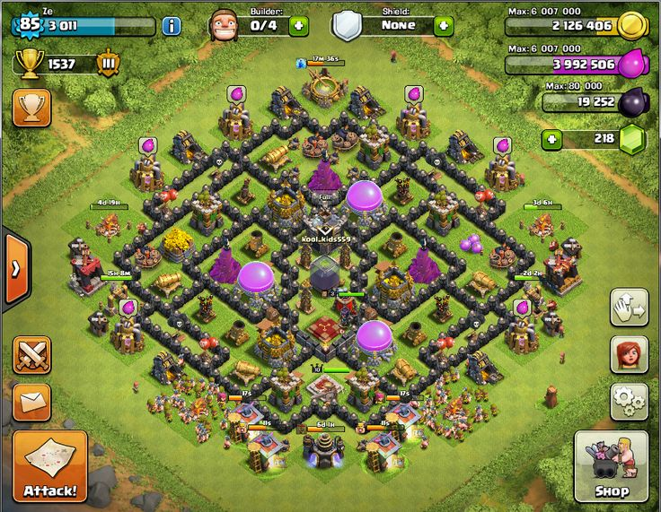 th 8.5 ( th 9 with no additional building for th 9, just added an Archer Queen