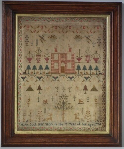 1794 House Sampler by Mary Cook