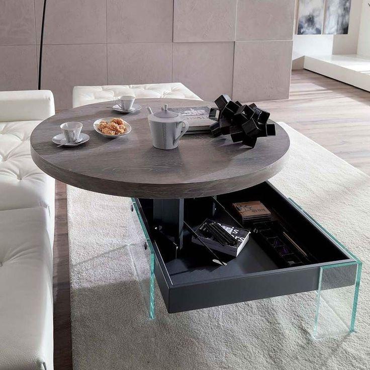 Lovely Der runde h henverstellbare Bellagio Design Couchtisch von Ozzio ist der perfekte Couchtisch f r jedes Wohnzimmer