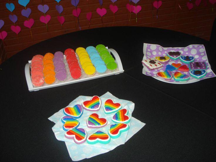 Alfajores y cookies multicolor
