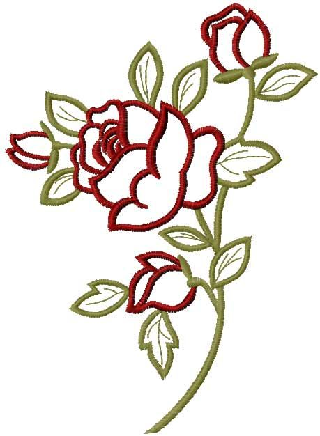 Rose free embroidery design 23 - Flowers free machine embroidery designs - Machine embroidery community
