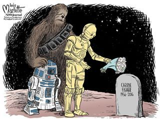 11 Heartbreaking Cartoons In Memory Of Carrie Fisher