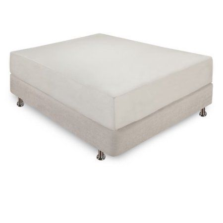 Classic 12 inch Ventilated Memory Foam Mattress, Cal King Size, Beige