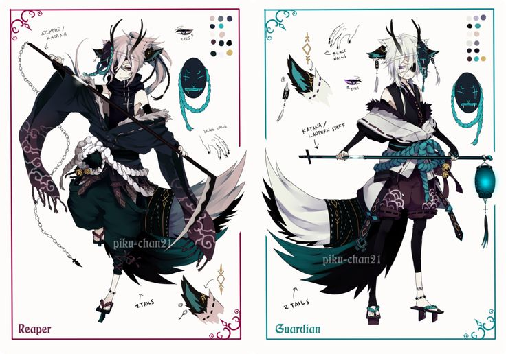 [ CLOSED ] Semi-chibi adopt 15 and 16 by Piku-chan21.deviantart.com on @deviantART