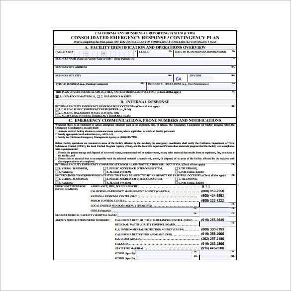 Contingency Plan Template Communication Plan Template
