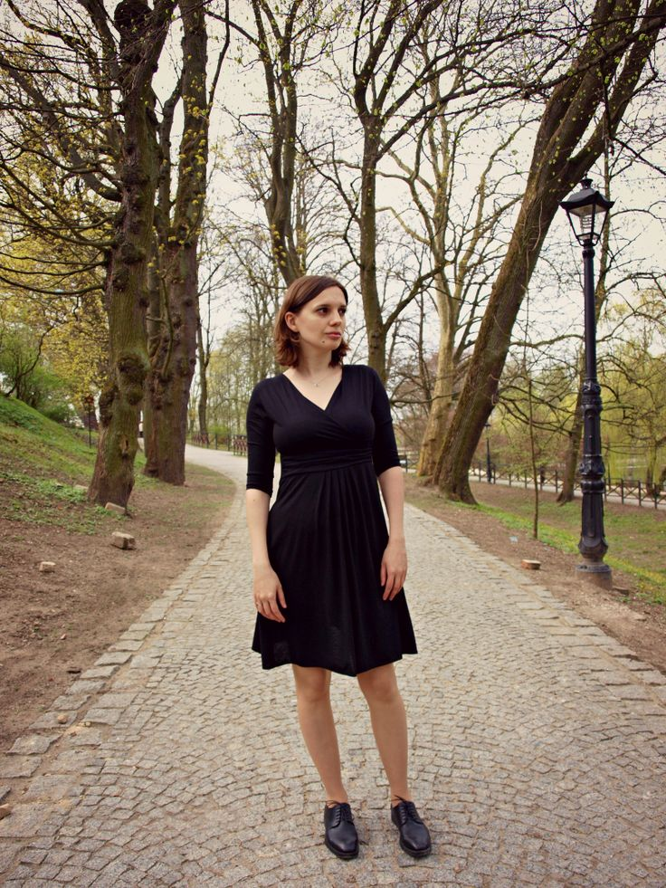 LBD and oxford shoes