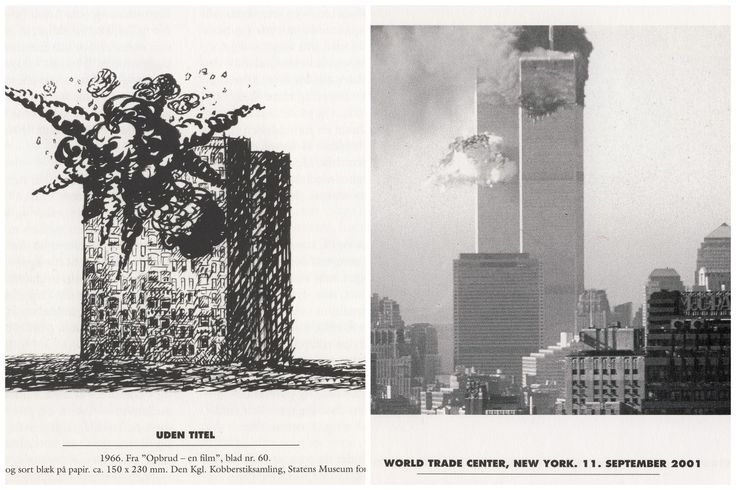 the horrors of war - now & then - pen, ink on paper - Palle Nielsen 1966