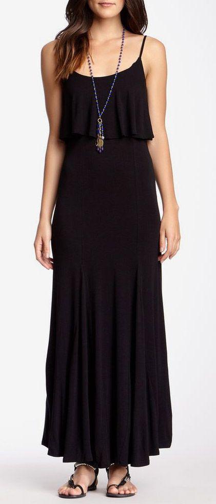 Socialite Knit Pop Over Maxi Dress