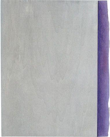 2011 Gouache und Farbstiff auf Sperrholz Selma Van Panhuis Acht Farben (für Klaas), Grau