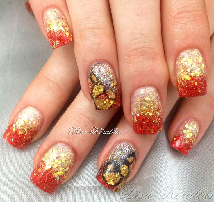 Hand Painted Christmas Nail Art: 20 Best Christmas And Winter Nails Images On Pinterest