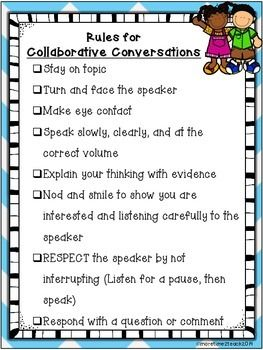 "Collaborative Conversations FREEBIE {Rules and Recording Sheet}....Follow for FREE ""not-to-keep"" teaching tools & other fun stuff :)"