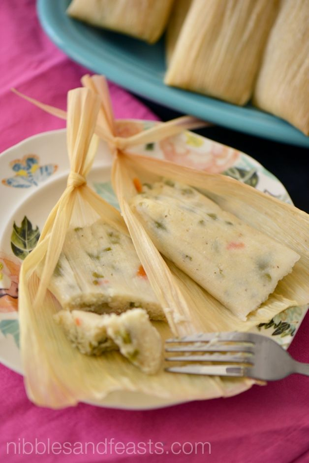 Jalapeño and Cactus Tamales. For @nibblesnfeasts, plump La Morena Pickled Jalapeños help her make this traditional recipe easily and with minimal or no seasoning. #VivaLaMorena #ad