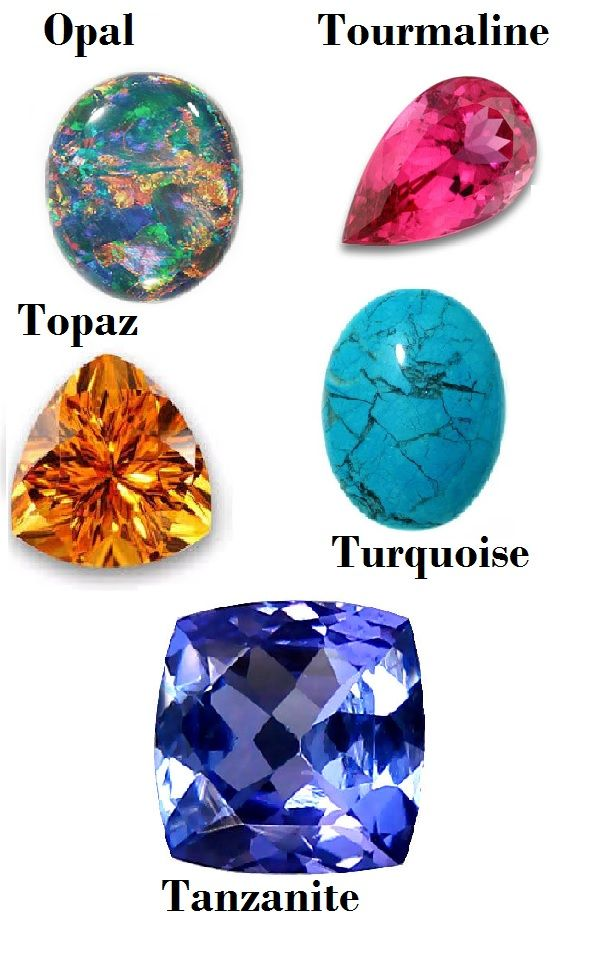Birthstones for October November December