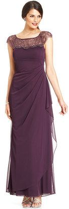 Xscape Cap-Sleeve Beaded Gown $219.00 thestylecure.com
