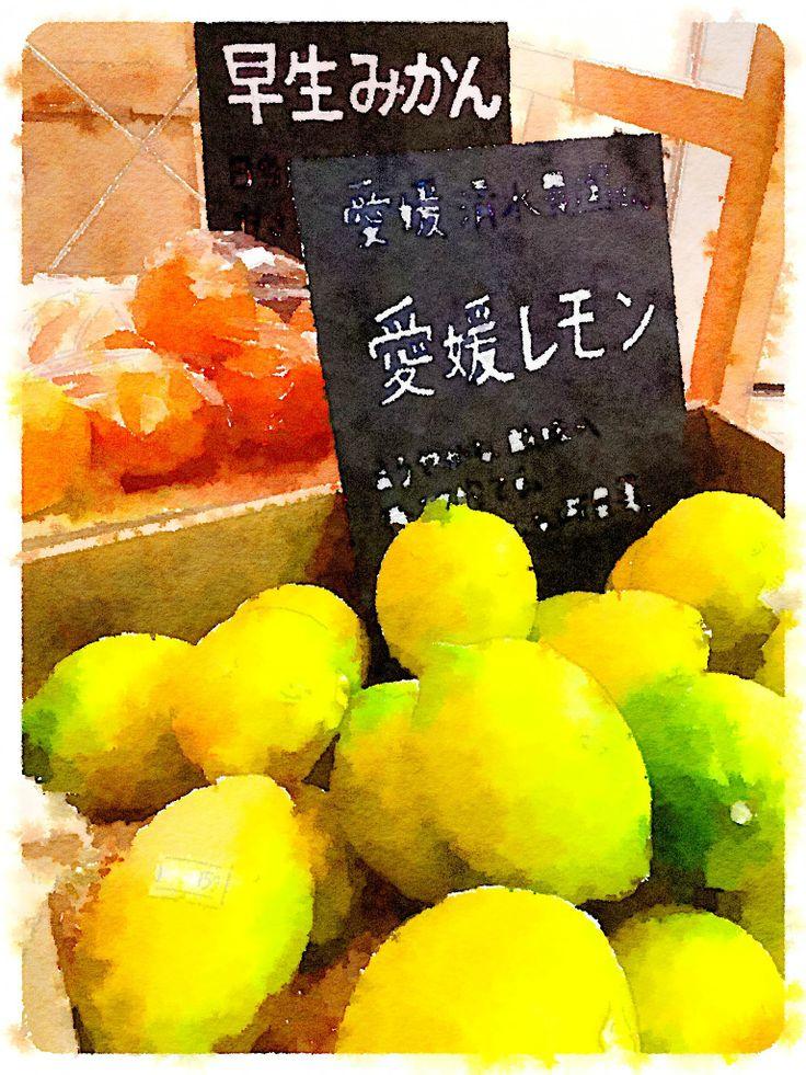 ウッドベリーズマルシェ前の果物たち。