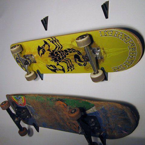 trax wall mounted skateboard racks for home garage u0026 bedroom angled to