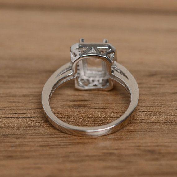 corte de la natural puro anillo compromiso anillo esmeralda