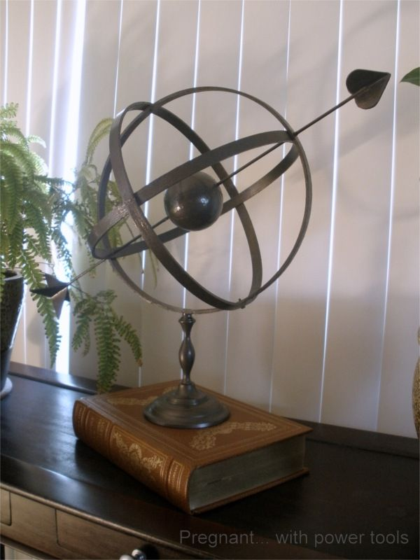 Someday Crafts: Guest Blogger - Pregnant With Power Tools - Pottery Barn Knock-off Armillary