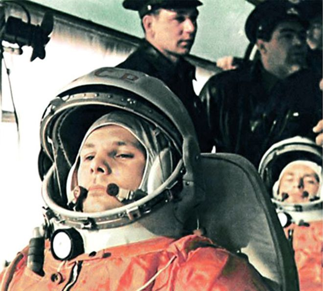Gagarin in Spacesuit