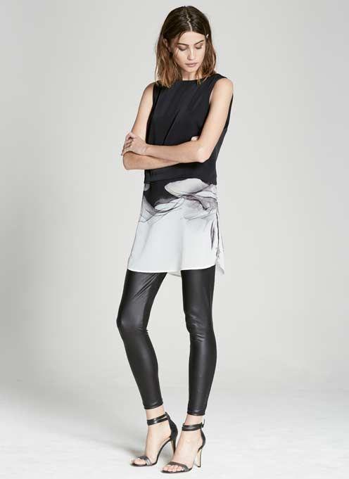 MINT VELVET [New Arrivals] Black Leather Look Legging