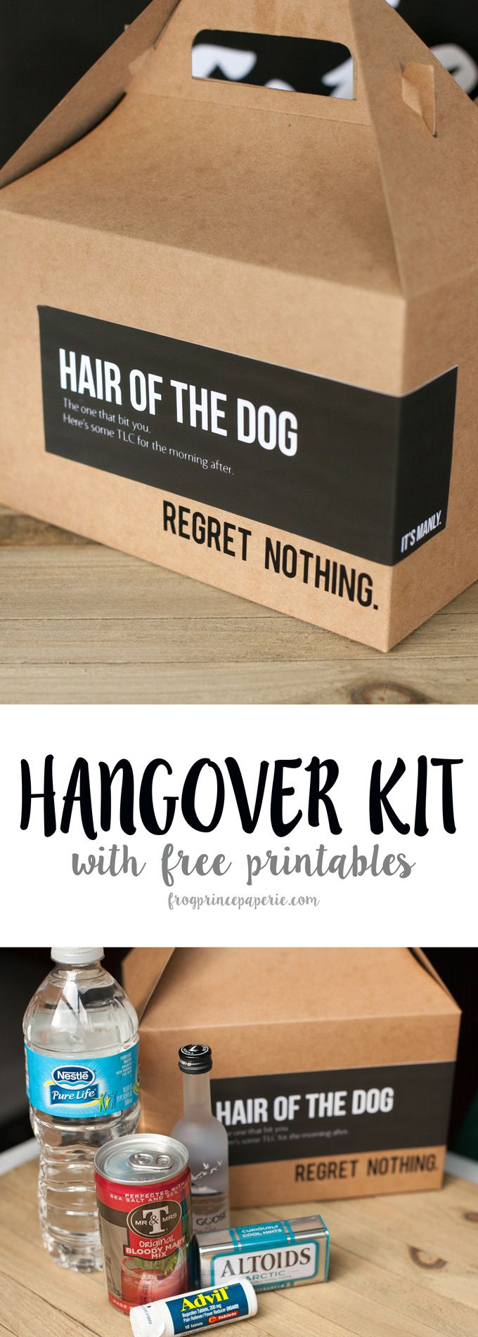 For the really great parties...a DIY Hangover Kit with printables to make your own!