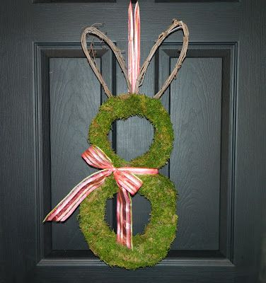 adorable bunny wreath from ever blooming originals ... enter to WIN this or another wreath at inspiredbycharm.com