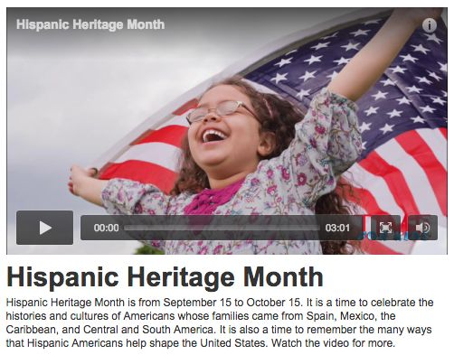 This video from TIME For Kids provides a great overview of Hispanic Heritage Month.