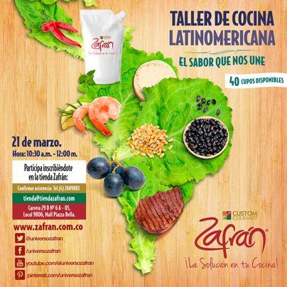 Taller de cocina Latinoamericana, conoce las recetas en http://bit.ly/1paV0lM.