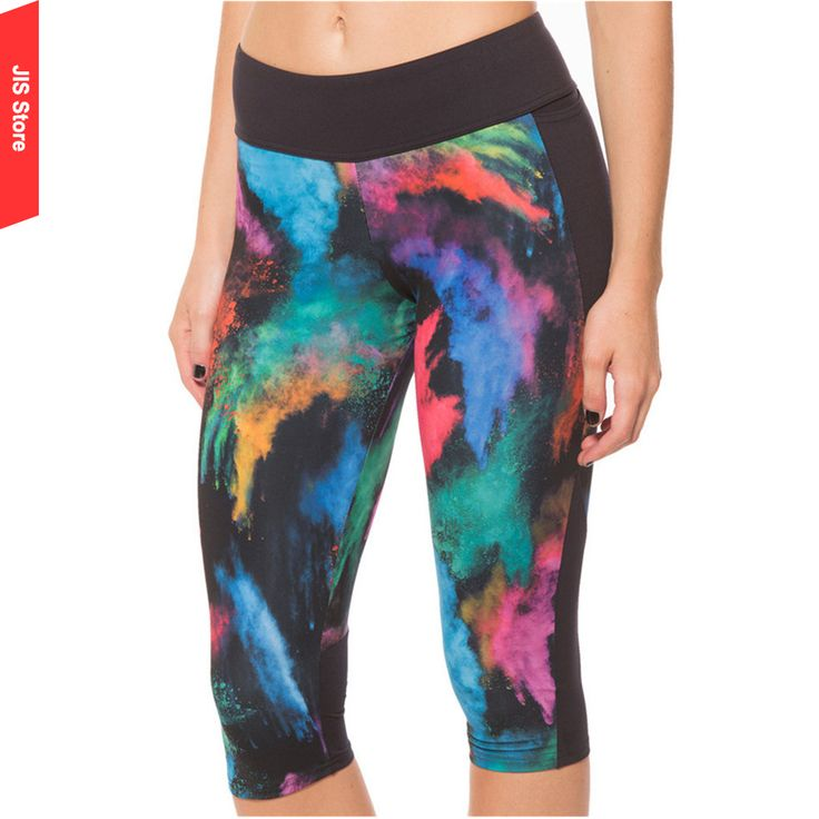 JIS Skinny Yoga Pants Women Leggings Mallas Mujer Deportivas Running Tights Women 3/4 Length Yoga Fitness Gym Workout Pants